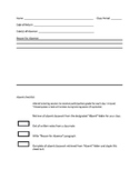 Free - Checklist for Absent Student Late Work
