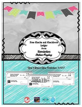 free checks and checkbook ledger by kera s korner tpt