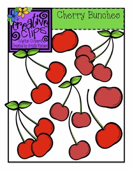 {Free} Cherry Bunches {Creative Clips Digital Clipart}