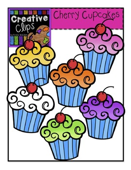 {Free} Cherry Cupcakes {Creative Clips Digital Clipart}