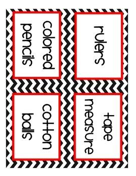 Free Chevron Classroom Labels (Printable)