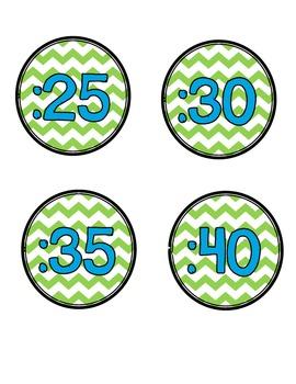Free Chevron Clock Numbers