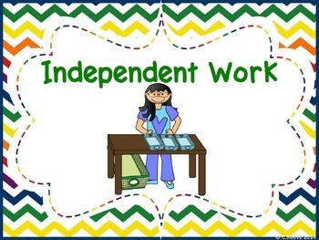 Free Chevron Preschool-Elementary Autism Classroom Area Signs (Special Ed)