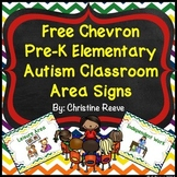 Free Chevron Preschool-Elementary Autism Classroom Area Si