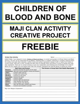 Free Children of Blood and Bone Maji Clan Activity: Allegory Analysis