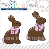 Free Chocolate Bunny Graphic / Clip Art