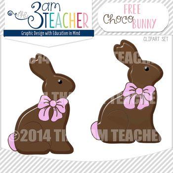 Free Chocolate Bunny Graphic / Clip Art