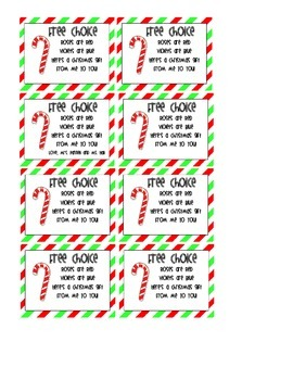 Free Choice Christmas Coupon
