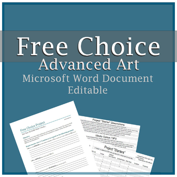 Free Choice Project Form (TAB)