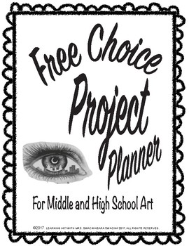Free Choice Art Project Planner