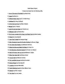 Free Choice Reading List