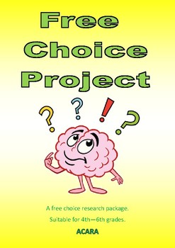 Free Choice Research Project - draft booklet included