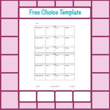 Free Choice Template