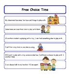 Free Choice Time Social Story