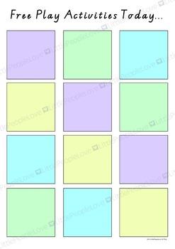 Free Choice Visual Timetable