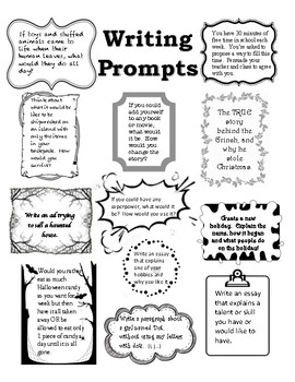 Free Choice Writing Prompts
