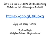 Free Choice Writing Unit Mentor Text Collection