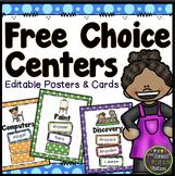 Free Choice Centers - Editable {Dots Classroom Set}