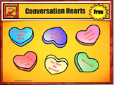 Free Catholic - Christian Conversation Heart Clip Art from Charlotte's Clips