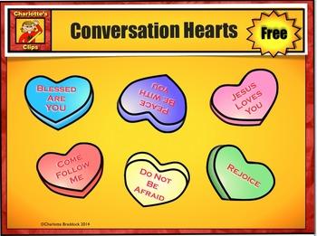 Free Catholic - Christian Conversation Heart Clip Art from