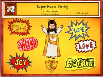 Free Catholic - Christian Superhero Clipart from Charlotte