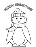 Free Christmas Activities Free Penguin Christmas Coloring Page Christmas Free!