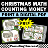 FREE Counting Money Task Cards, 2nd Grade Christmas Math Center Games