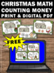 FREE Christmas Math Centers Counting Money Task Cards for
