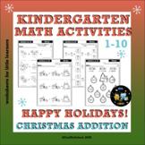 Free Christmas Addition Kindergarten Math Worksheets