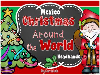 Free!  Christmas Around the World Retelling Headbands {Mexico}
