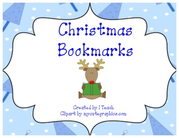 Free- Christmas Bookmark