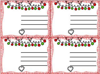 Free Christmas Cards!  {Confetti and Creativity Clip Art}
