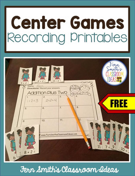 Christmas Centers Recording Sheet Printables Freebie