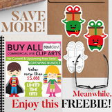 Free Christmas Clip Art - Monster with gift box