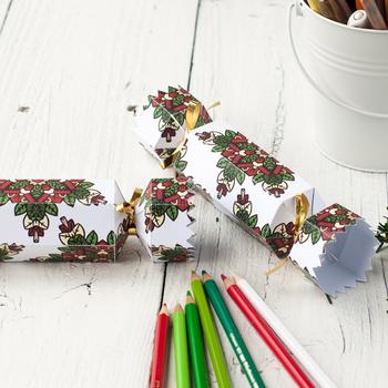 Free Christmas Cracker Template | Printable coloring Christmas bon-bon