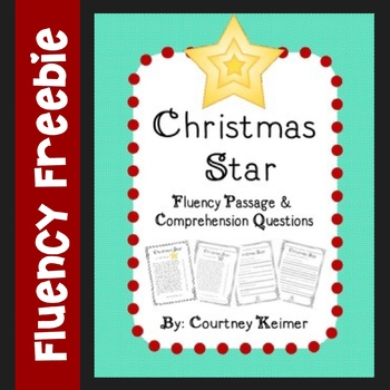Free Christmas Fluency Passage and Comprehension Questions by Courtney Keimer