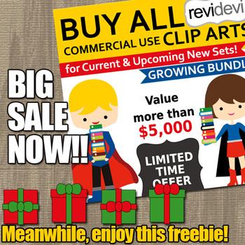 Free Christmas Gift Clip Art and Big Sale Info