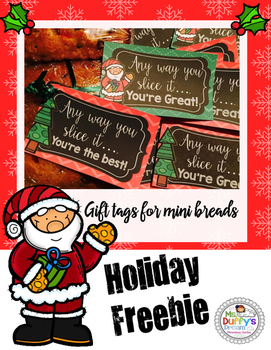 Free Christmas Gift Labels (to use homemade bread gift)