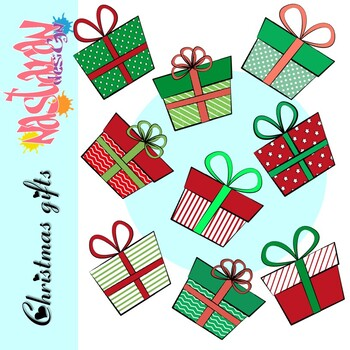 Free Christmas Gifts Clip Art