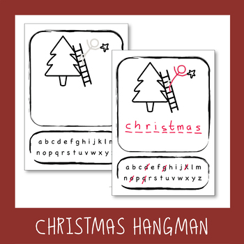 free christmas hangman template by esl4fun teachers pay teachers