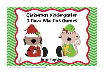 Free Christmas I Have Who Has Kindergarten Games (5)