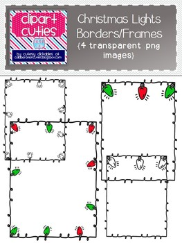 free christmas lights bordersframes perfect for tpt products