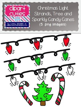 Free Christmas Lights, Tree, and Sparkly Candy Canes