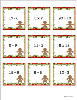 Free Downloads Christmas Math Games! Centers! Add Subtract Multiply Divide