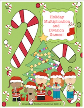 Free Downloads Christmas Math Games!  Multiplication and Division Facts!