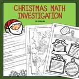 Free Christmas Math Investigation US No Prep