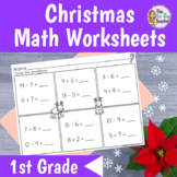 Free Christmas Math Printables for First Grade