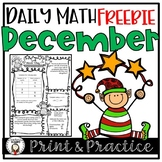 Free Christmas Math Worksheets and Assessment