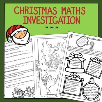 Free Christmas Maths Investigation AUS UK No Prep