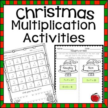 Free Christmas Multiplication Practice